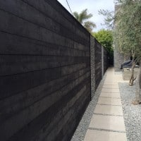 Shou Sugi Ban Fence