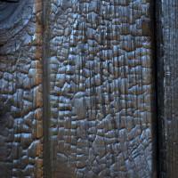 Deep Char Cedar Siding Texture Detail